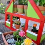 Upcycled Dollhouse Herb Garden Spring Craft DIY