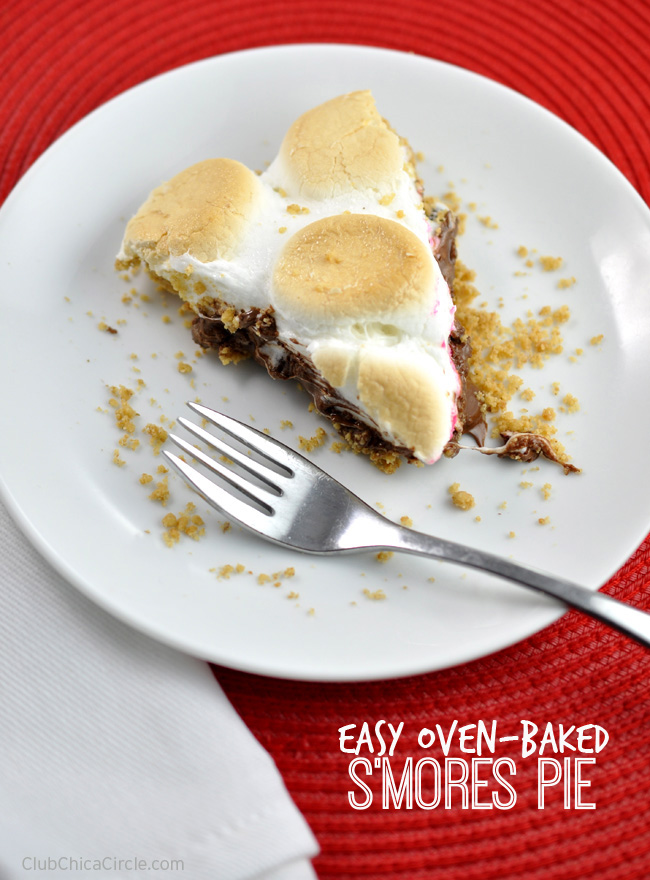 Yummy oven-baked s'mores pie recipe