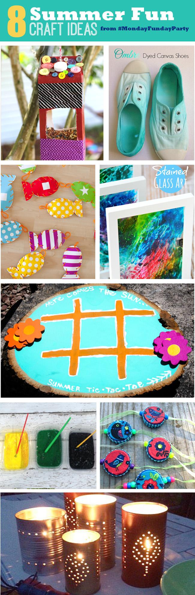 8 Summer Fun Craft Ideas #MondayFundayParty