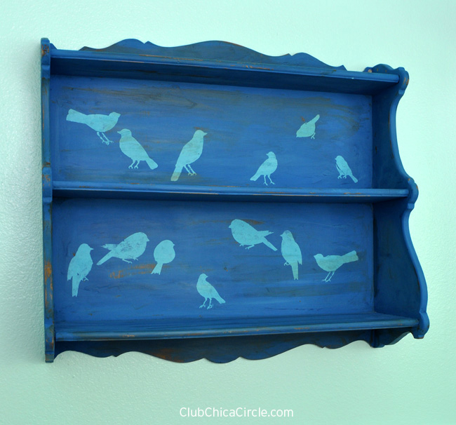 #PutaBirdOnIt shelf upcycle craft
