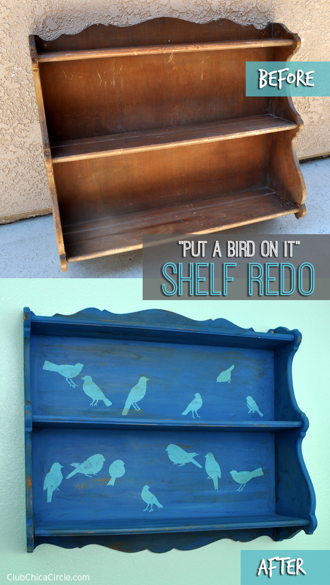 #PutaBirdonIt shelf redo #chalkyfinish