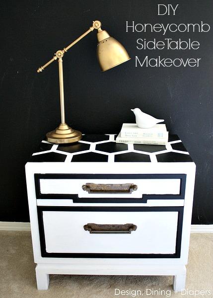 DIY-Honeycomb-Side-Table-Makeover-via-designdininganddiapers.com_