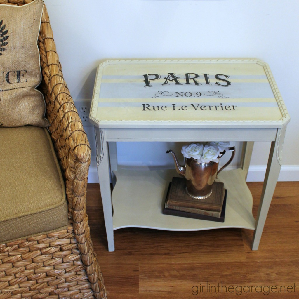 french grain sack table makeover