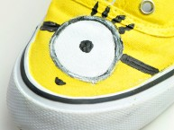 Minion inspired hand painted shoe design