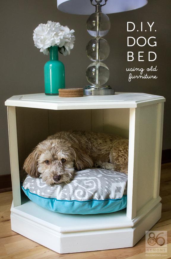 cabinet turned DIY dog bed