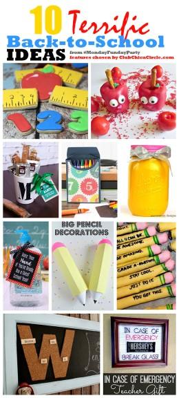 10 Terrific Back-to-School Ideas #MondayFundayParty