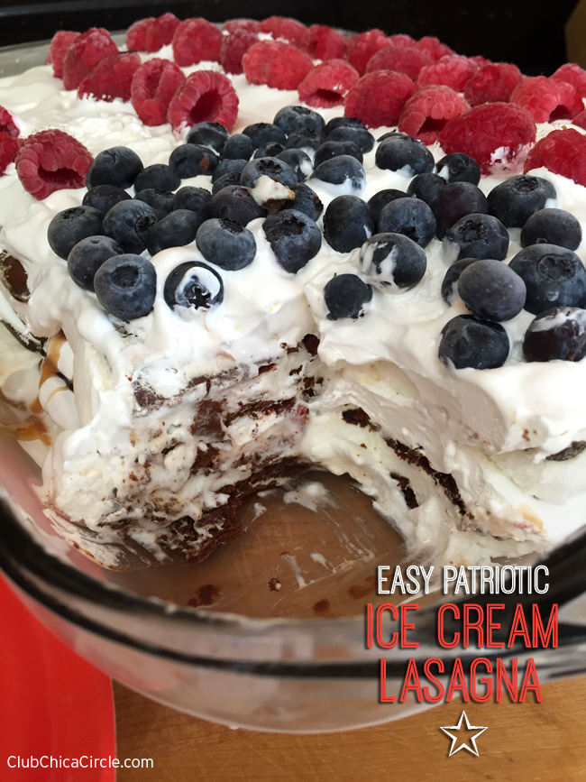 Easy Patriotic Ice Cream Lasagna