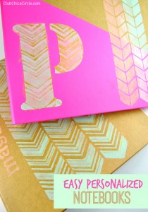 Easy Personalized Notebooks DIY #backtoschool