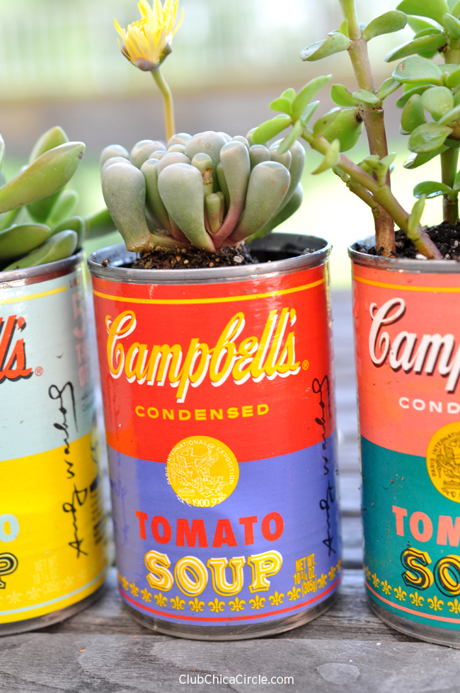 Campbell's Tomato Soup Upcycled Planters