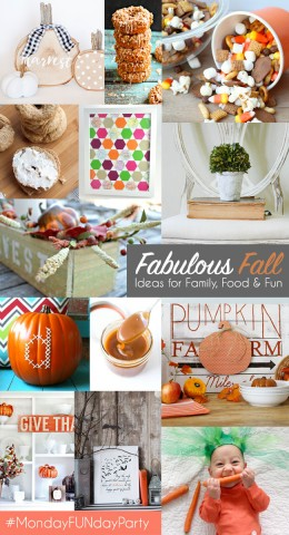 Fall Craft and Recipe Ideas #MondayFundayParty