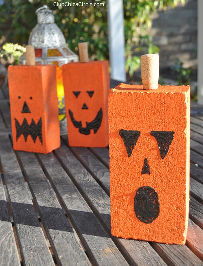 concrete pumpkins craft idea for kids