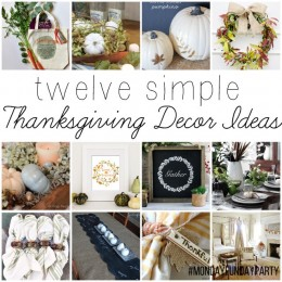 12 Easy Thanksgiving Decor Ideas #MondayFundayParty