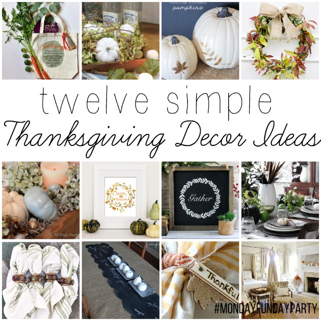 12 Easy Thanksgiving Decor Ideas Mondayfundayparty Club