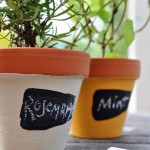 herb garden painted pots @clubchicacircle