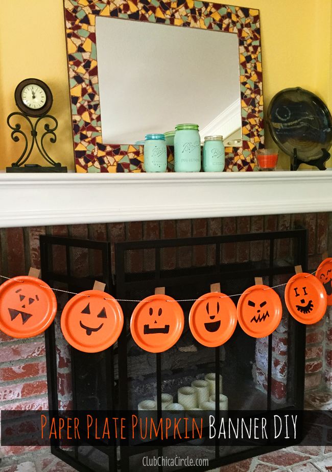 how to make a pumpkin party banner @clubchicacircle