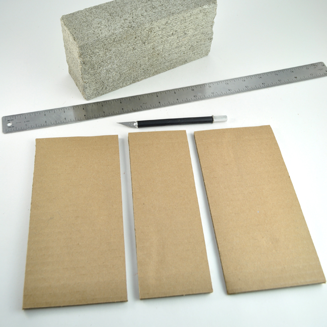 How to make Book concrete brick bookends step 1