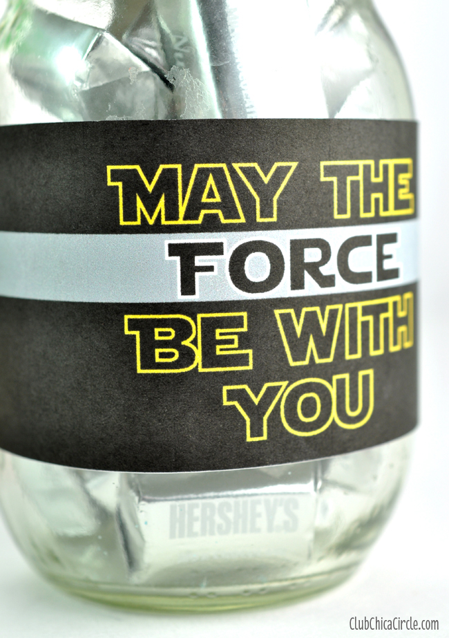 Star Wars May the force be with you free printable for mason jar