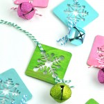 Easy Homemade Painted Snowflake Ornaments