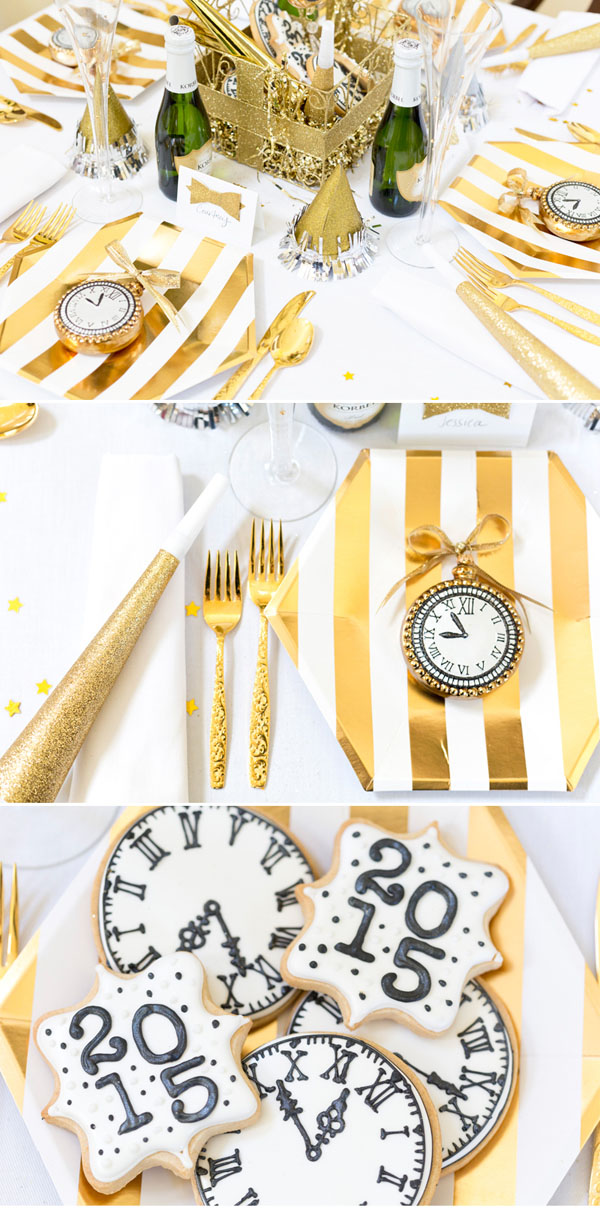 New Year Party Decoration Ideas At Home Part - 43: New-Years-Eve-Tablescape-party-favors
