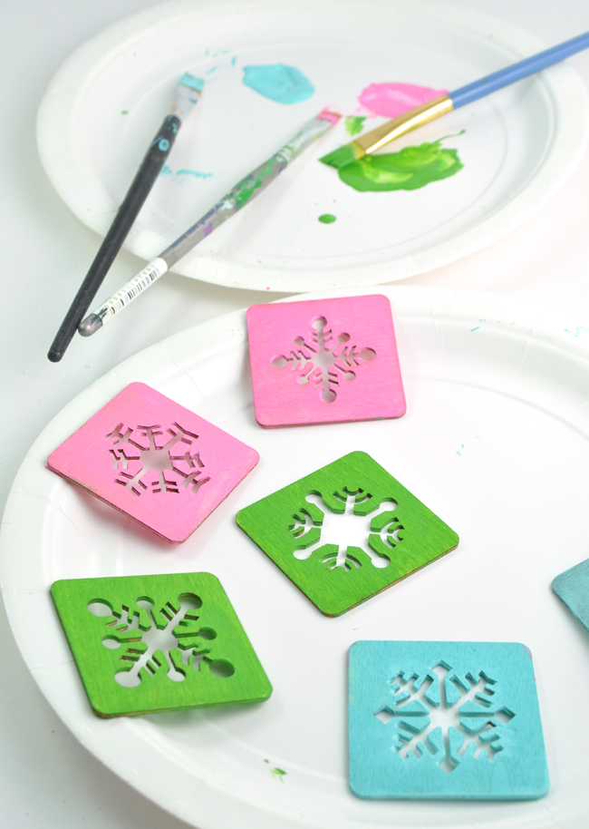 easy homemade snowflake ornaments