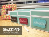 Chalkboard organization labels