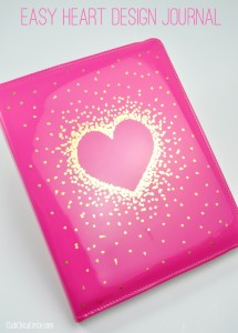 Heart Journal DIY craft idea @clubchicacircle