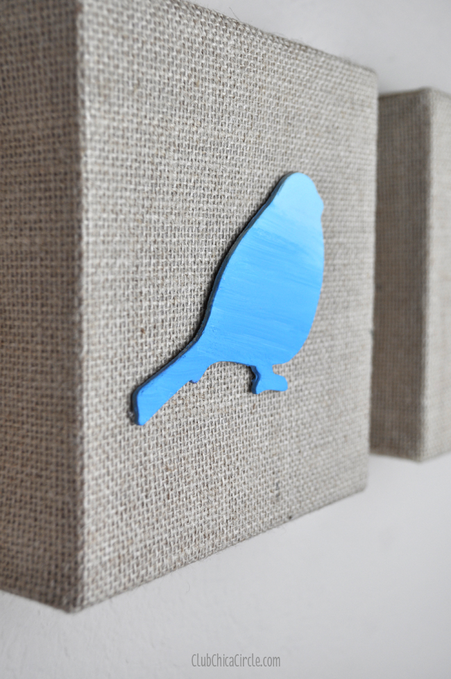 Painting Ombre Spring Birds DIY