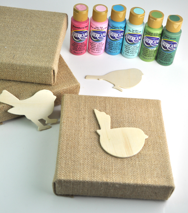 Spring Birds Mini Canvas Art Supplies
