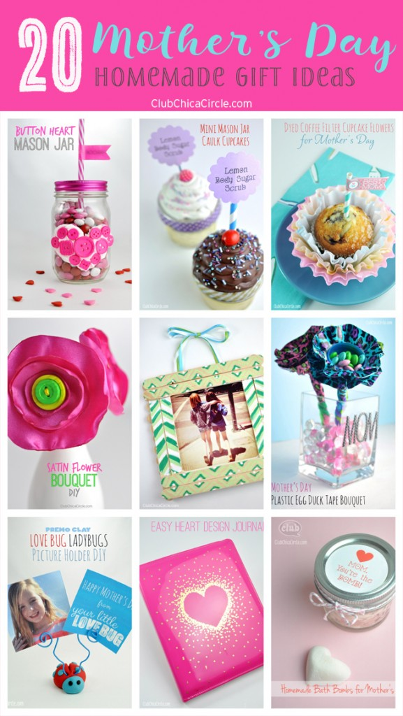 20 Mother's Day Homemade Gift Ideas