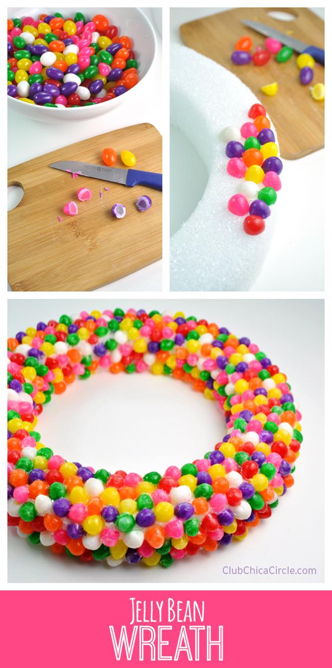 How to make a super cute jelly bean wreath
