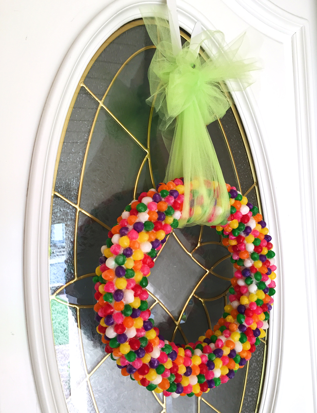 Pretty Jelly Bean Wreath for Easter