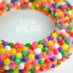 jelly bean wreath Spring craft idea @clubchicacircle