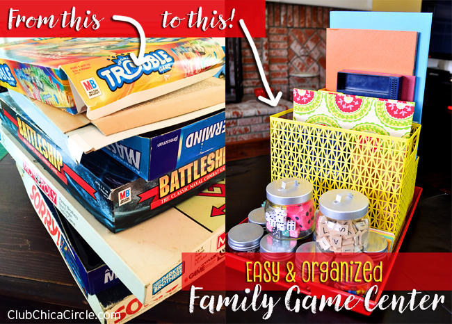 Easy and organized family game night tray @clubchicacircle