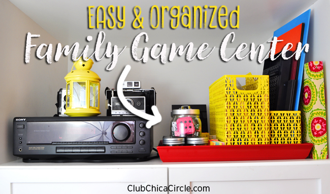 Family Game Center Organization Craft Idea