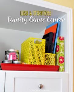 Family Game Night Activity Center Idea