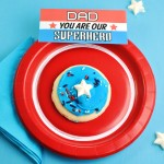 DAD You Are My Superhero Captain America Cookies @clubchicacircle