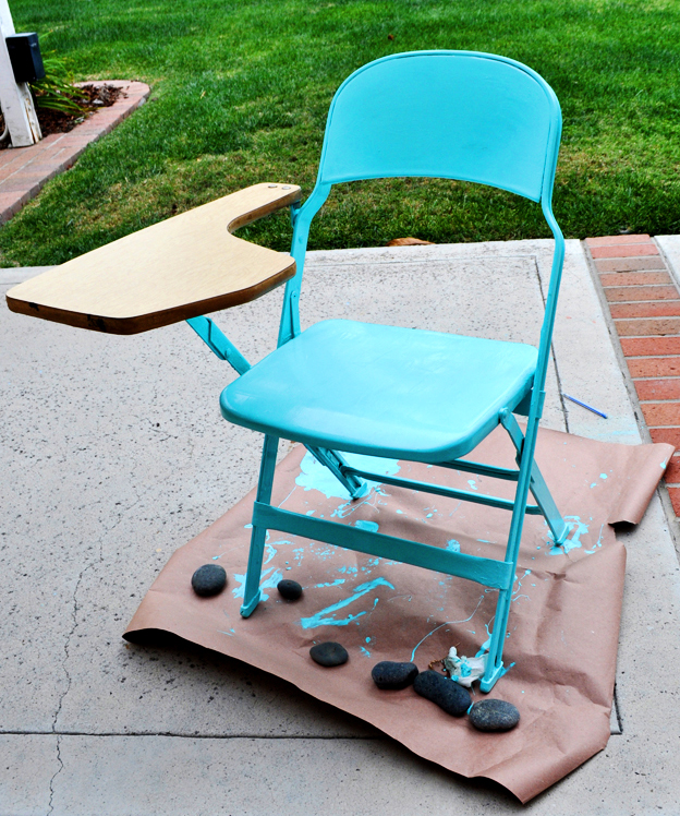 Turn a vintage chair into modern furniture with high gloss paint