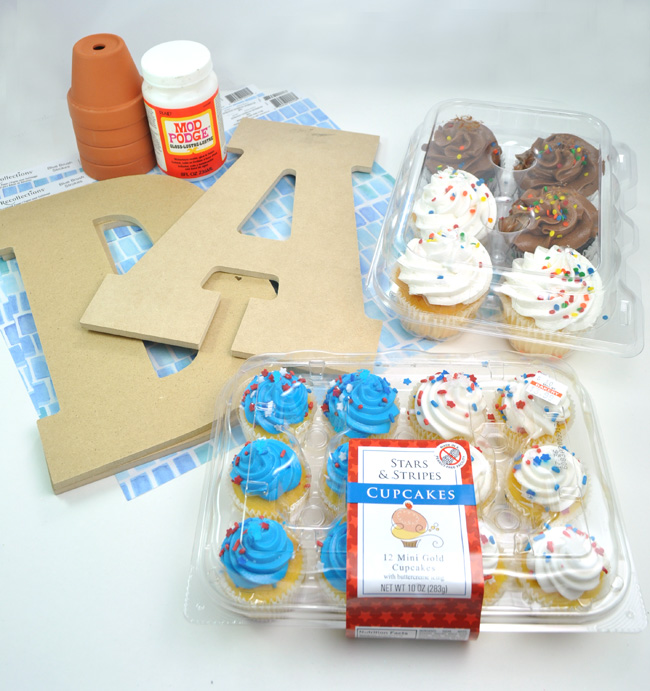 Father's Day Cupcake Party Display supplies