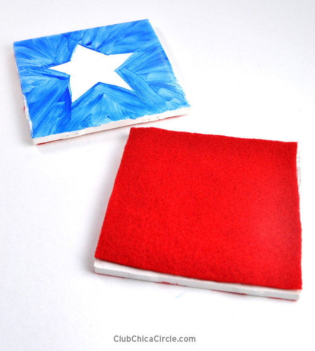 how to make easy homemade 4th of July coasters