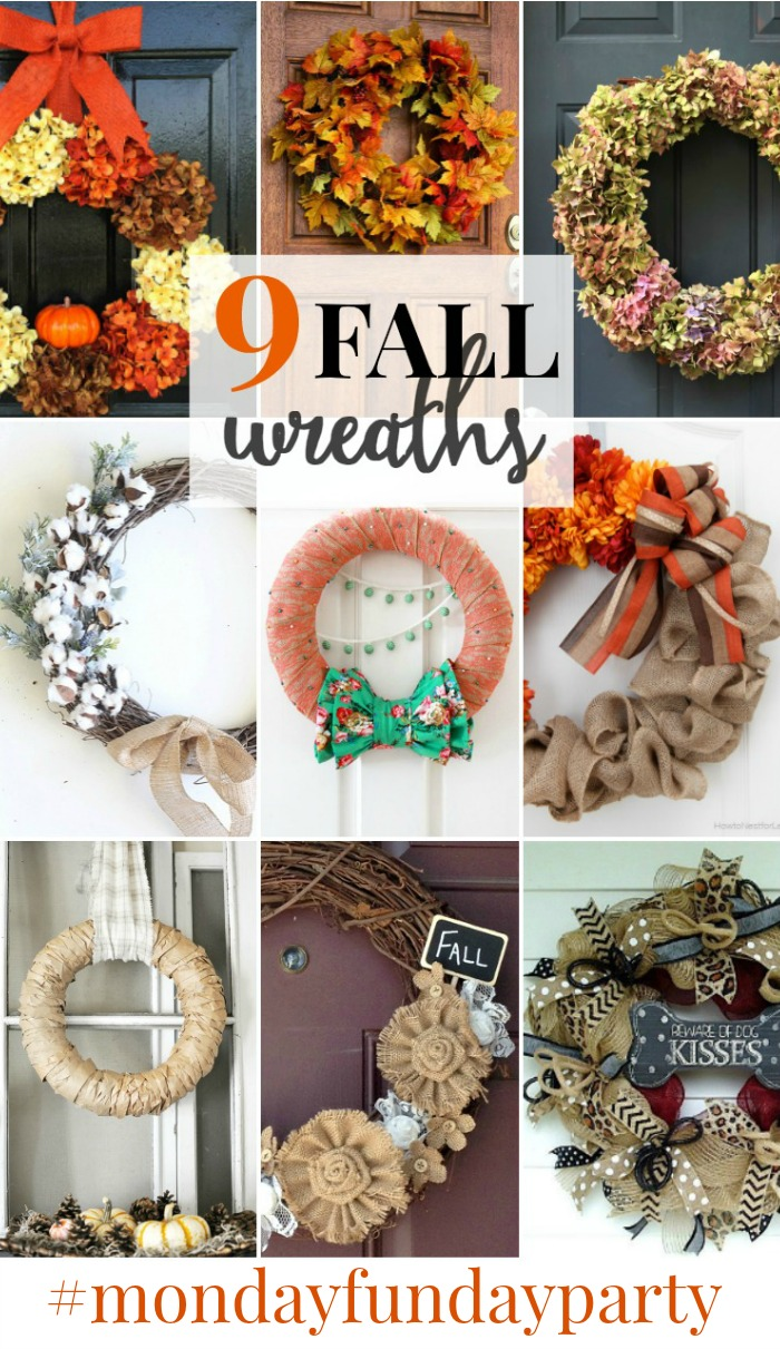 fall-wreaths-roundup #mondayfundayparty