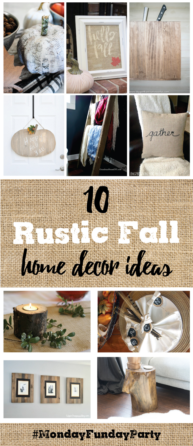 10 rustic fall home decor ideas mondayfundayparty club Rustic home decor ideas diy