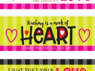 Hershey's Candy Wrapper Free Printables for Valentine's Day Gifts