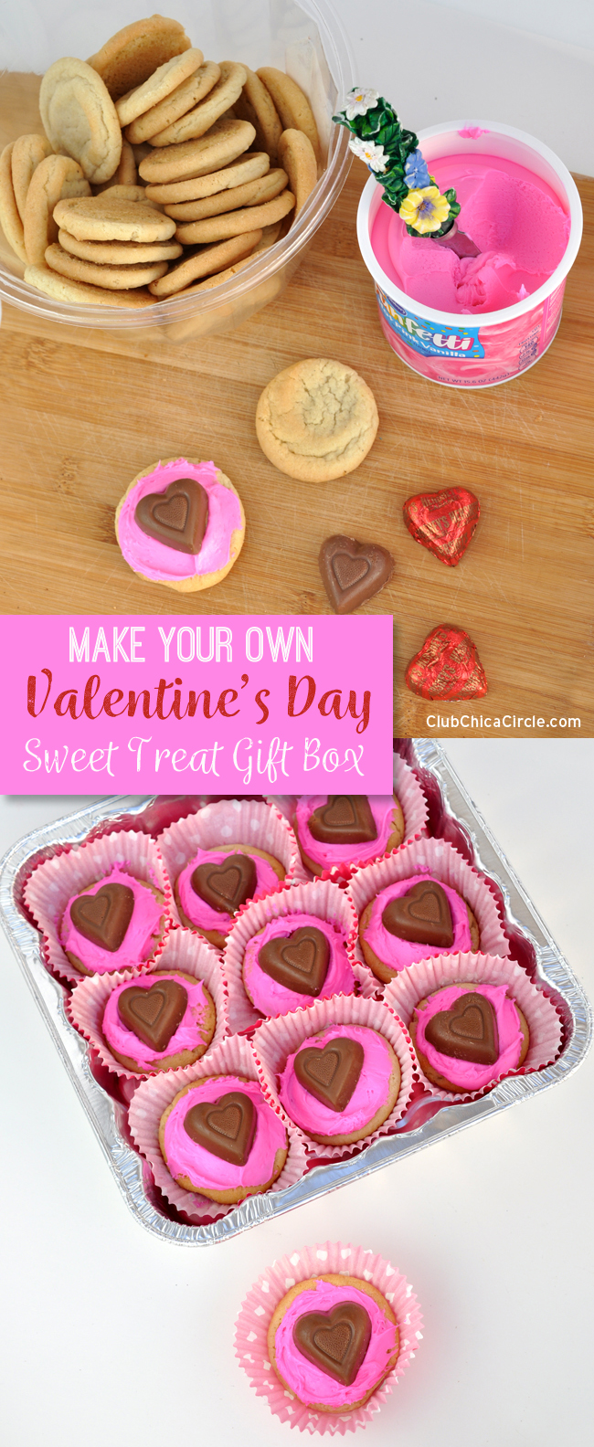 Make your own Valentine's Day Cookie Gift Box