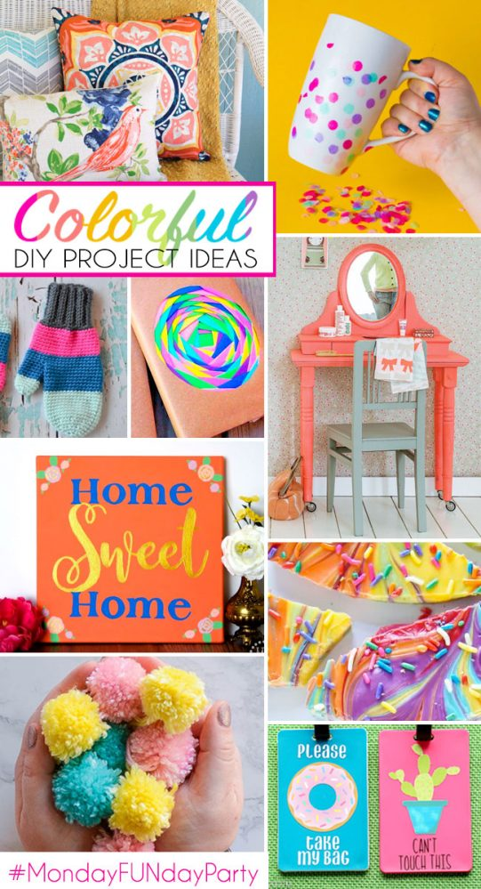 Colorful-DIY-craft Ideas-featured from #MondayFundayParty