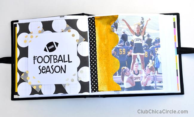 Football season cheer memory book design