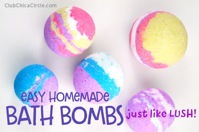 LUSH inspired easy homemade bath bombs DIY
