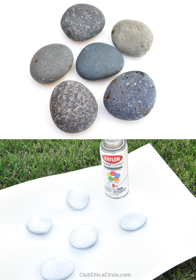 Painting rocks with markers for Spray paint rocks for garden