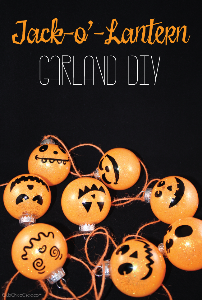 Jack-O'-Lantern Ornaments Halloween Garland DIY