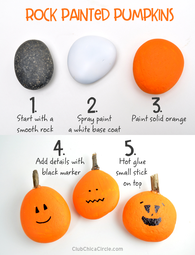 Painting rocks for fun Halloween decor @chicacircle