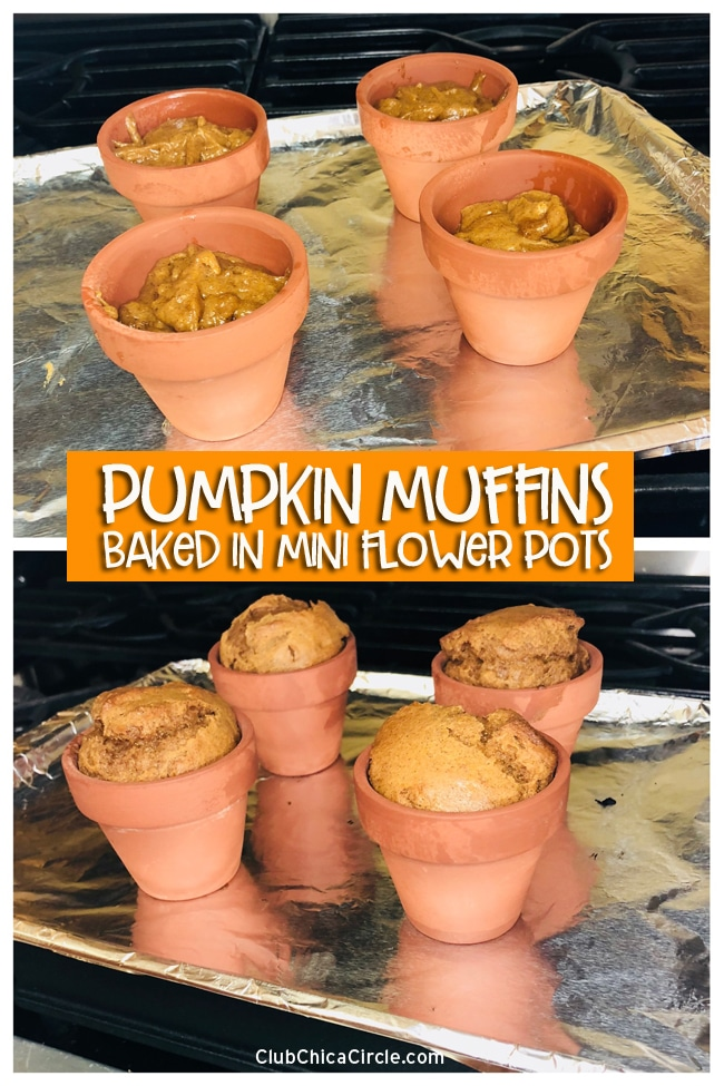 It's so easy to bake muffins or bread in flower pots